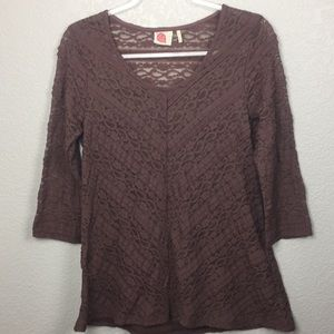 Anthropologie Lilka Lace Top Blouse M